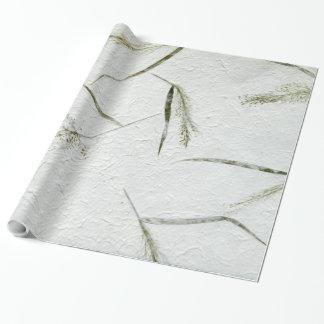 Cuchillas finas de la foto de la hierba del papel papel de regalo