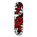 Cuchillas tribales del tatuaje (rojo y negro) patinetas personalizadas