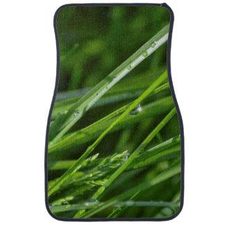 Cuchillas verdes de la escena de la naturaleza de alfombrilla de auto