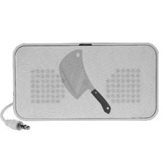 Cuchillo de carnicero portátil altavoz