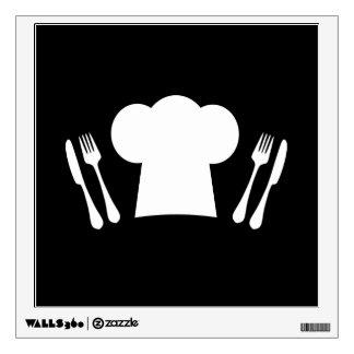 Cuchillo del gorra del cocinero y cocina o