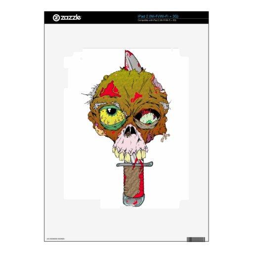 Cuchillo del zombi calcomanía para el iPad 2