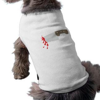Cuchillo knife playera sin mangas para perro