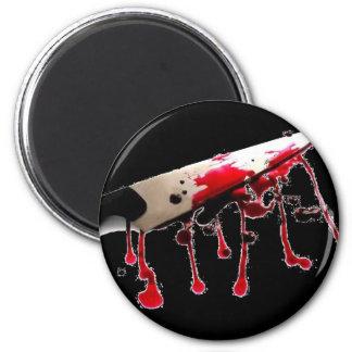 Cuchillo sangriento II Imán Redondo 5 Cm