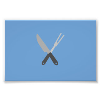 cuchillo y bifurcación fotografía