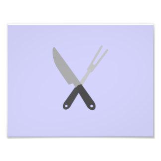 cuchillo y bifurcación fotografías