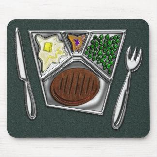 Cuchillo y Spork de la cena de TV Mousepads