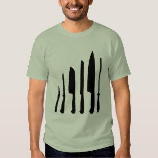 Cuchillos de los cocineros playeras