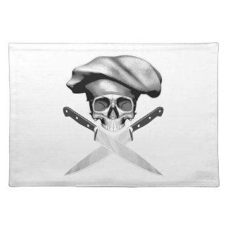 Cuchillos del cráneo n del cocinero mantel individual