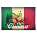 Cucina Italian Flag Cloth Placemat
