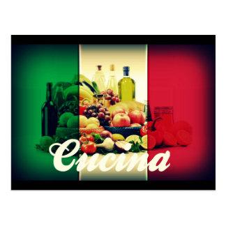 Cucina Italian Flag Postcard