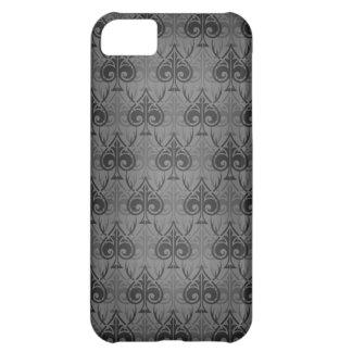 Cuckold-Cuckoldress-Hotwife damask pattern - Black iPhone 5C Cover