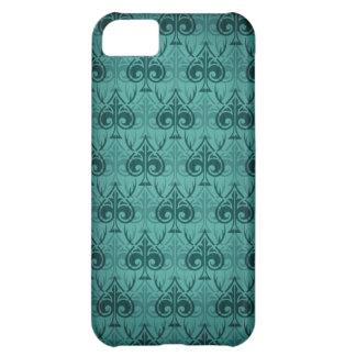Cuckold-Cuckoldress-Hotwife damask pattern - Green iPhone 5C Cover