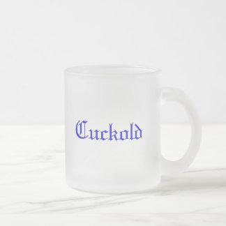 Cuckold Frosted Glass Coffee Mug