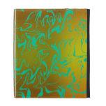 Cuckoo Abstract Golden Swirl iPad Folio Cases