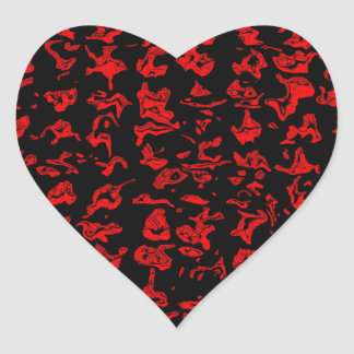 Cuckoo Abstract Heart Sticker