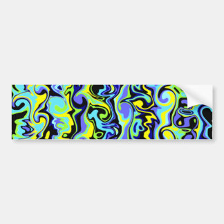 Cuckoo Abstract Swirl Bumper Sticker