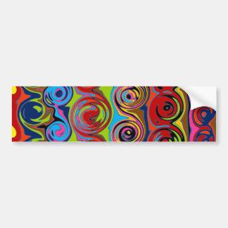 Cuckoo Abstract Swirl Car Bumper Sticker