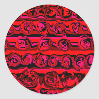 Cuckoo Abstract Swirl Classic Round Sticker