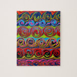 Cuckoo Abstract Swirl Jigsaw Puzzle