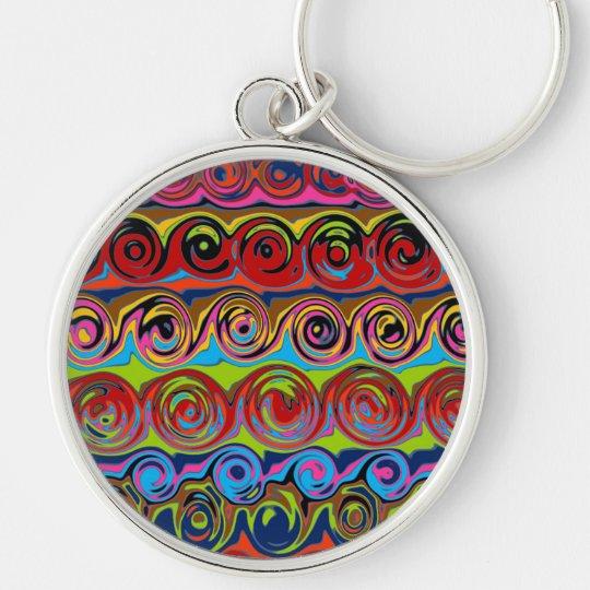 Cuckoo Abstract Swirl Keychain
