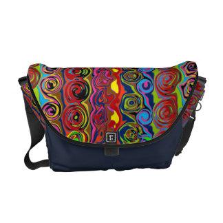 Cuckoo Abstract Swirl Messenger Bags
