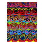 Cuckoo Abstract Swirl Postcards