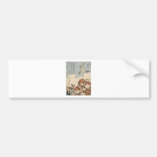 Cuckoo and Azaleas by Katsushika Hokusai Bumper Sticker
