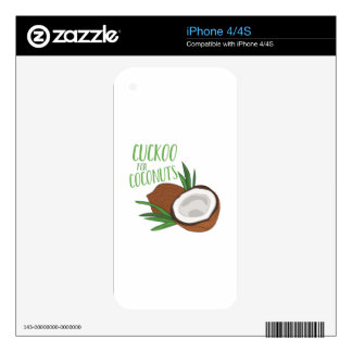 Cuckoo Coconuts Skin For iPhone 4S