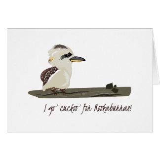 Cuckoo Kookaburras Greeting Card