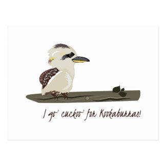 Cuckoo Kookaburras Postcard