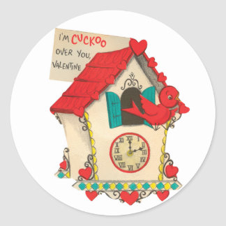 Cuckoo Over You | Valentine | Round Stickers