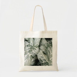 Cuckoo Pint Leaves In Black And White Tote Bag