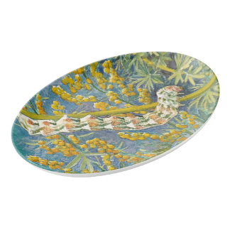 Cucullia Absinthii Caterpillar Porcelain Serving Platter