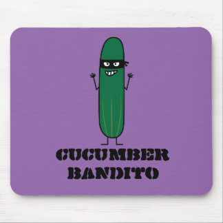 Cucumber Bandito Ninja Masked Sneaky Bandit Mouse Pad