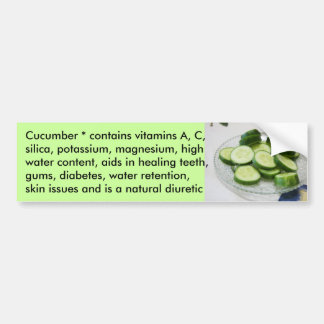 Cucumber  bumper sticker