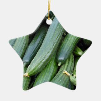 cucumber ceramic ornament