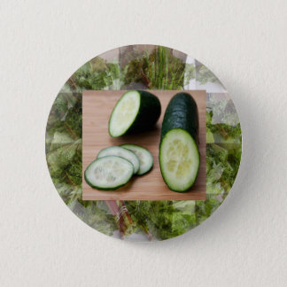 CUCUMBER Cool Minds Healthy Skin Tonic Salad foods Pinback Button