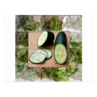 CUCUMBER Cool Minds Healthy Skin Tonic Salad foods Postcard