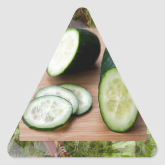 CUCUMBER Cool Minds Healthy Skin Tonic Salad foods Triangle Sticker