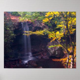 Cucumber Falls, Ohiopyle state park, Pennsylvania Poster