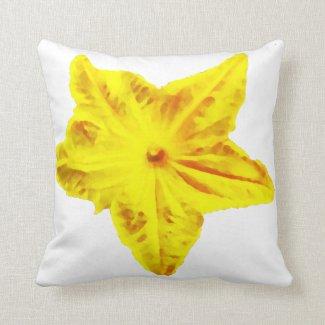 Cucumber flower pillow