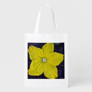 Cucumber Flower Reusable Bag Grocery Bags