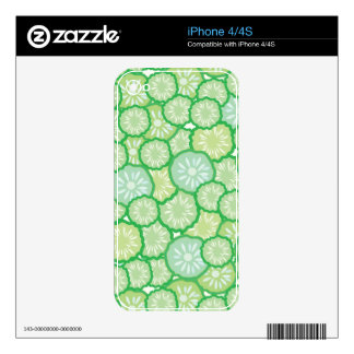 Cucumber funny pattern skins for iPhone 4S