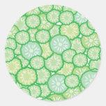 Cucumber funny pattern sticker