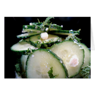 Cucumber-Lime Salad Note Card - Cu... - Customized