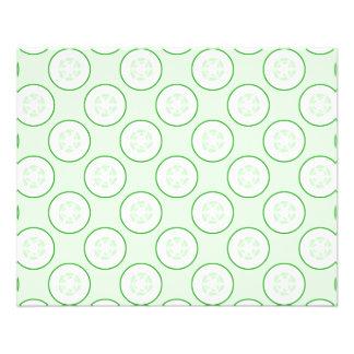 Cucumber Polka Dot Pattern. Flyer