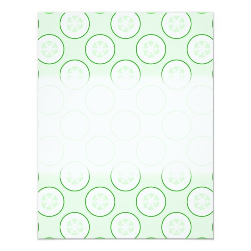 Cucumber Polka Dot Pattern. 4.25x5.5 Paper Invitation Card
