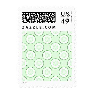 Cucumber Polka Dot Pattern. Postage Stamp