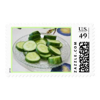 Cucumber postage stamp